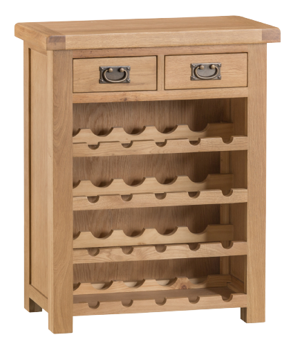 Cornish Oak Small Wine Rack